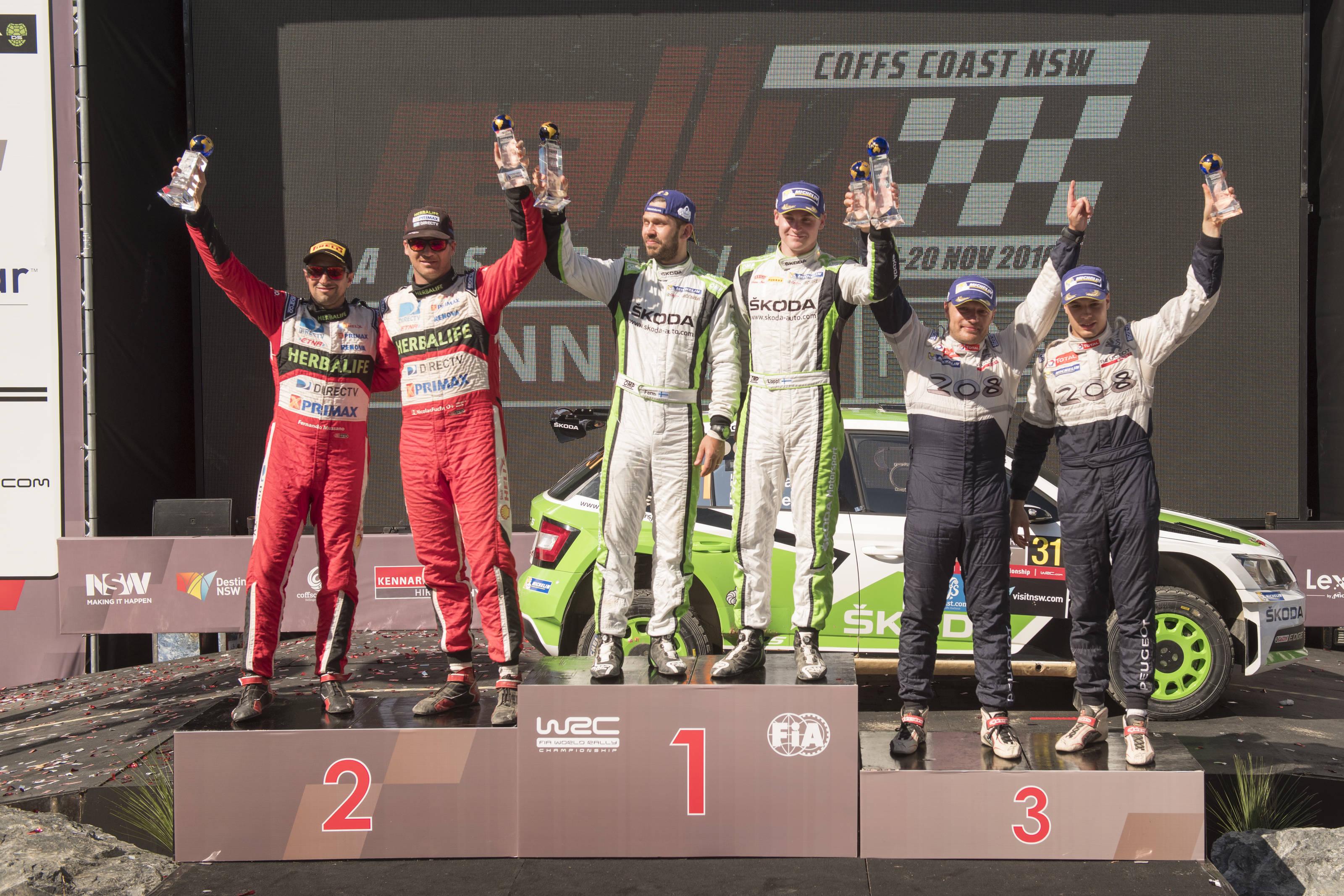 Το βάθρο της WRC2